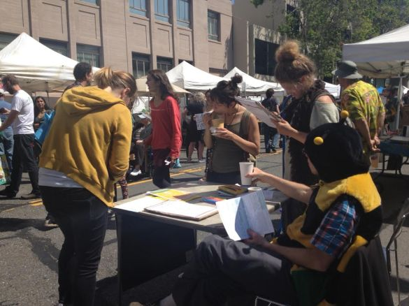 Collecting signatures is energy-consuming work in Berkeley, CA
